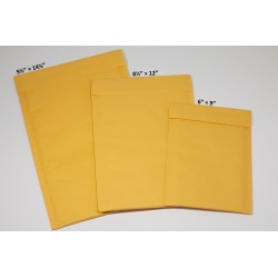 Padded Envelopes, 6 x 9, 8½...