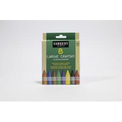 Sargent Art Large Crayons, 8pk