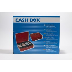 Cash Box, 12'', Steel, Red,...